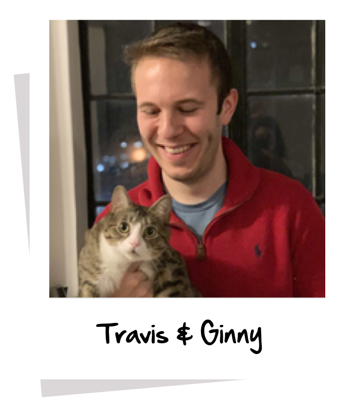 Pawlicy Advisor CTO Travis Bloom with his cat Ginny