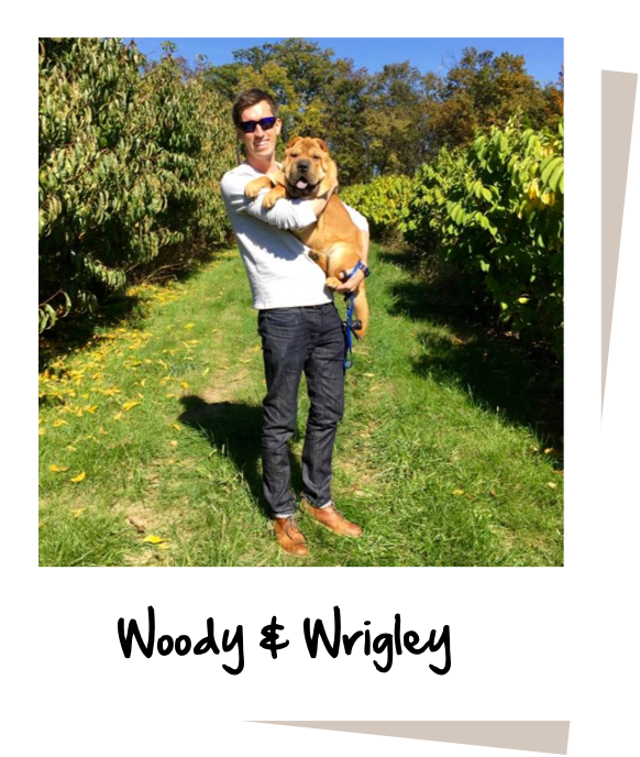 Pawlicy Advisor CEO Woody Mawhinney with his dog Wrigley