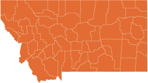 A map of Montana