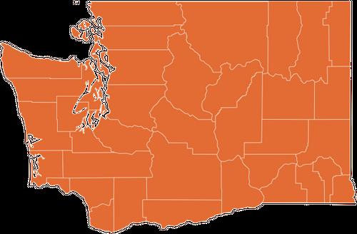 A map of Washington