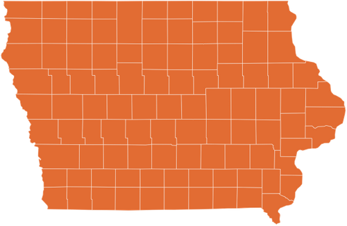 A map of Iowa