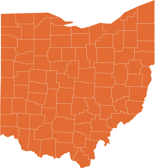 A map of Ohio