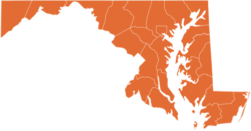 A map of Maryland