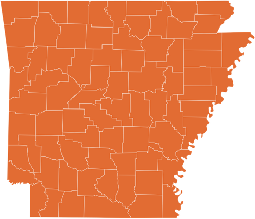 A map of Arkansas