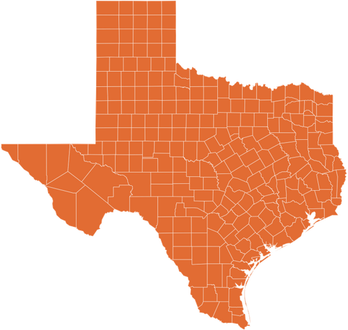 A map of Texas