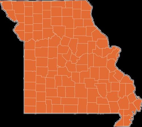 A map of Missouri