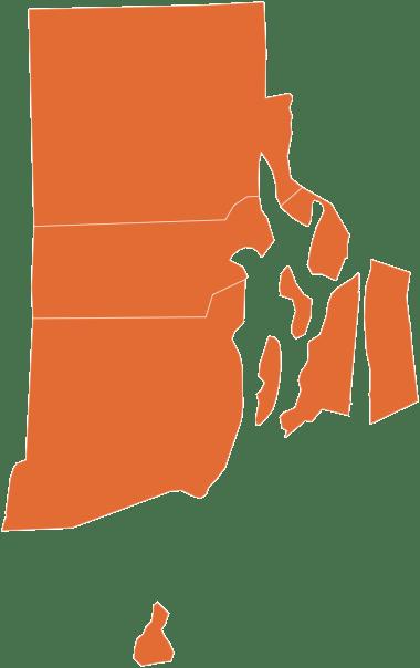 A map of Rhode Island
