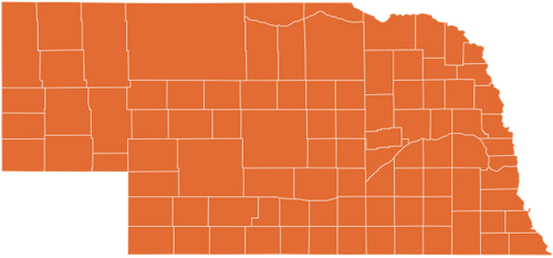 A map of Nebraska