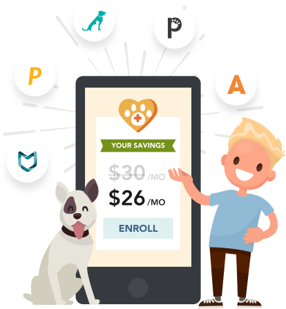 A family with pets that are insured by Pawlicy Advisor