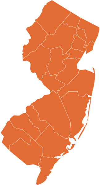 A map of New Jersey