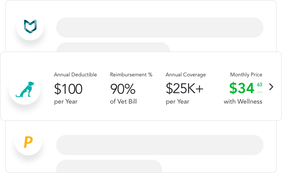 An intuitive interface for shopping for pet insurance