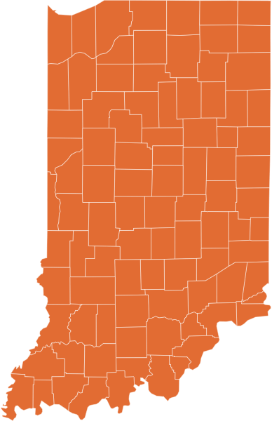 A map of Indiana