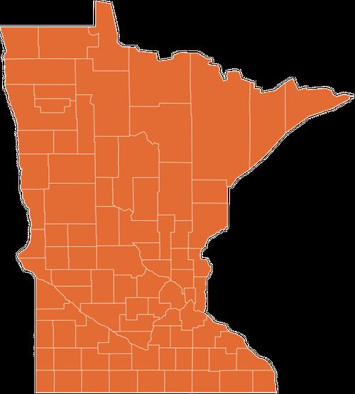 A map of Minnesota