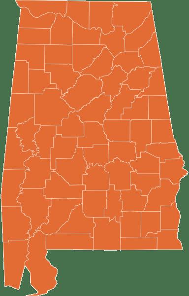 A map of Alabama