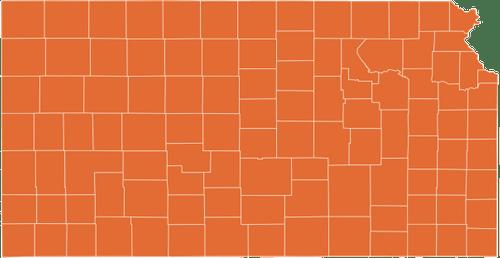 A map of Kansas