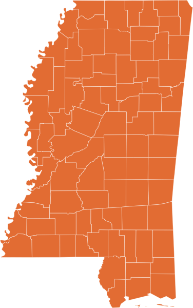 A map of Mississippi