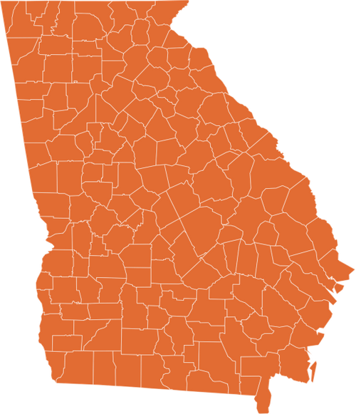 A map of Georgia