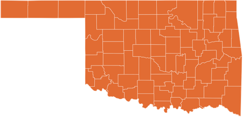 A map of Oklahoma