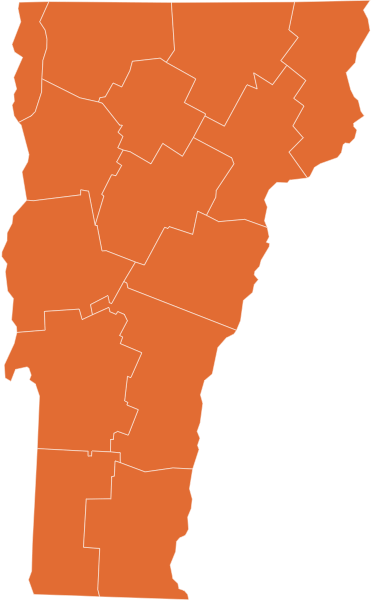 A map of Vermont