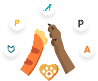 Pawlicy Advisor helping a pet parent and their dog find a great deal on insurance