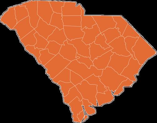 A map of South Carolina
