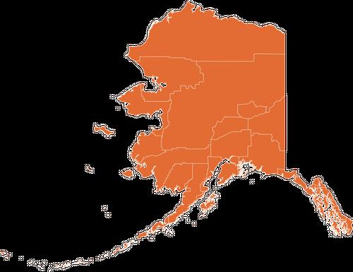 A map of Alaska