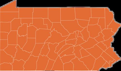 A map of Pennsylvania