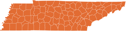 A map of Tennessee