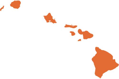 A map of Hawaii