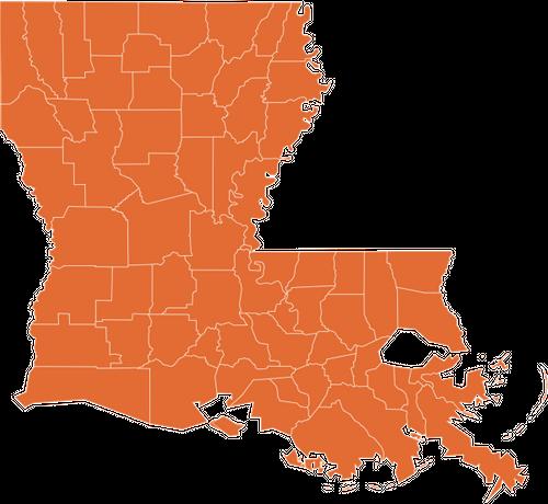 A map of Louisiana
