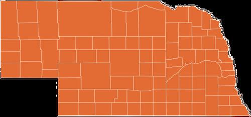 A map of Nebraska