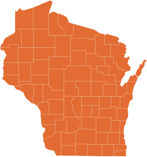 A map of Wisconsin